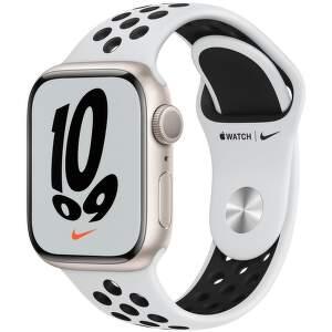 apple-watch-nike-series-7-gps-41-mm-hvezdne-bily-hlinik-s-platinove-cernym-nike-sportovnim-reminkem