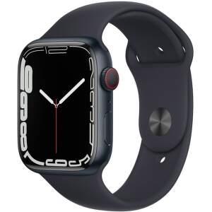 Apple Watch Series 7 GPS + Cellular 45 mm temne atramentový hliník s temne atramentovým športovým remienkom