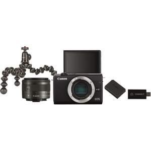 Canon EOS M200 černá + EF-M15-45 + Live Streaming Kit
