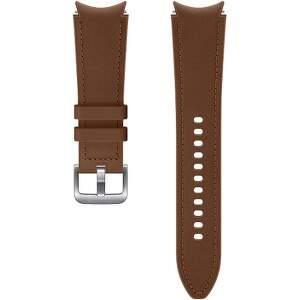 Samsung hybridní kožený řemínek pro Galaxy Watch4 Classic 46 mm M/L hnědý