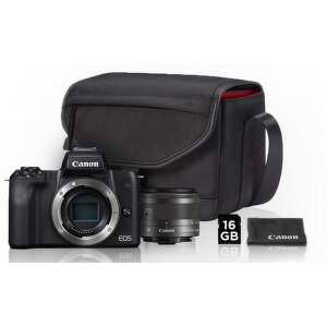 Canon EOS M50 černá + EF-M 15-45mm IS STM Value Up Kit