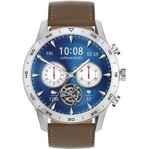 armodd-silentwatch-4-pro-stribrne-kozeny-silikonovy-reminek-chytre-hodinky