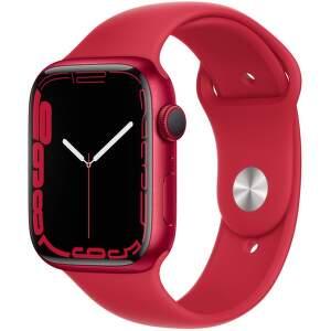 Apple Watch Series 7 GPS 45 mm (PRODUCT)RED hliník s (PRODUCT)RED sportovním řemínkem