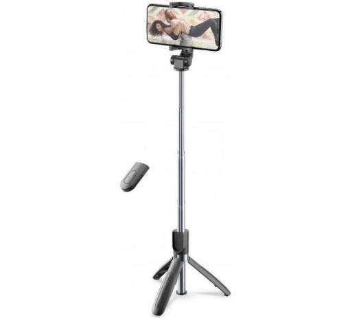 CellularLine Freedom selfie tyč s funkcí tripodu, černá