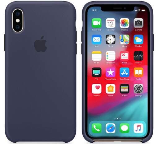 Apple silikonový kryt pro iPhone XS Max, půlnočně modrý