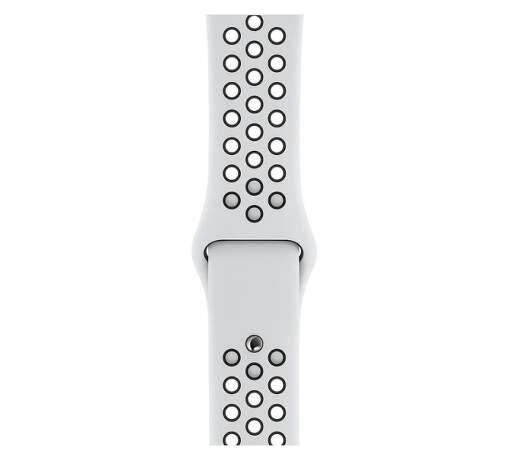 Apple Watch 44 mm Nike sportovní řemínek S/M a M/L, platinový/černý