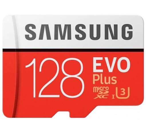 Samsung Micro SDXC 128 GB EVO Plus + SD adaptér