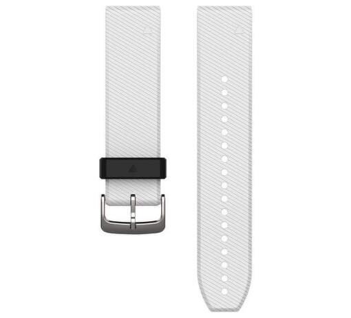 Garmin QuickFit 22 řemínek, bílý se stříbrnou sponou