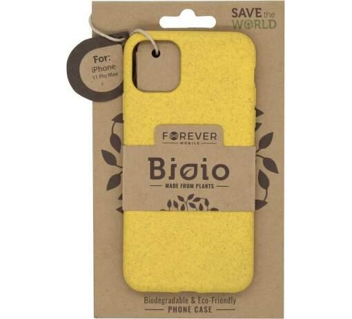 Forever Bioio zadní kryt pro Apple iPhone 11 Pro Max žlutý