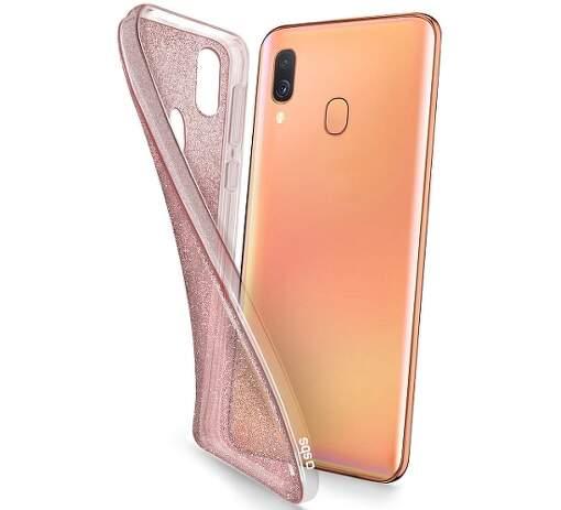 SBS Glitter pouzdro pro Samsung Galaxy A40, růžová