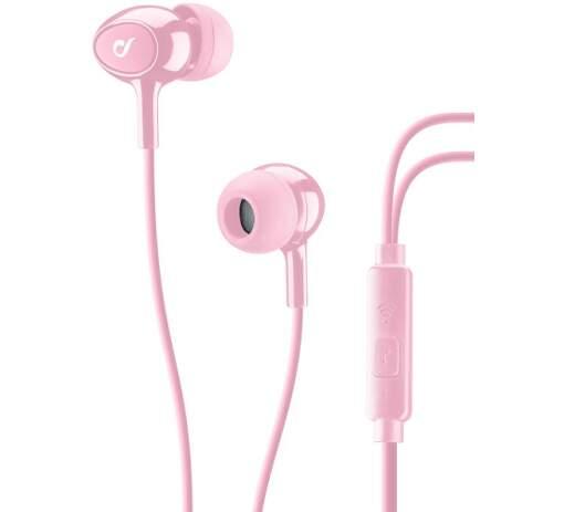 CellularLine Acoustic sluchátka, růžová