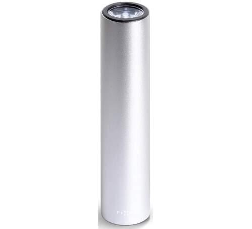 Fixed Torch powerbank 2600 mAh + svítilna, stříbrná