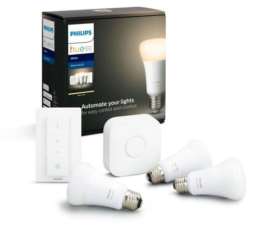 Philips Hue White 9W E27 starter kit