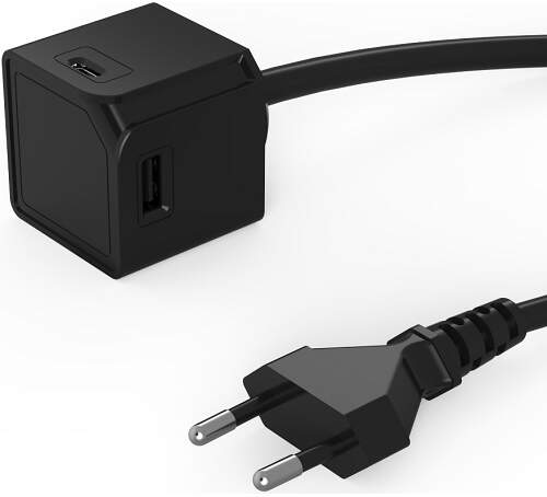 USBcube Extended A+C 3A, černá