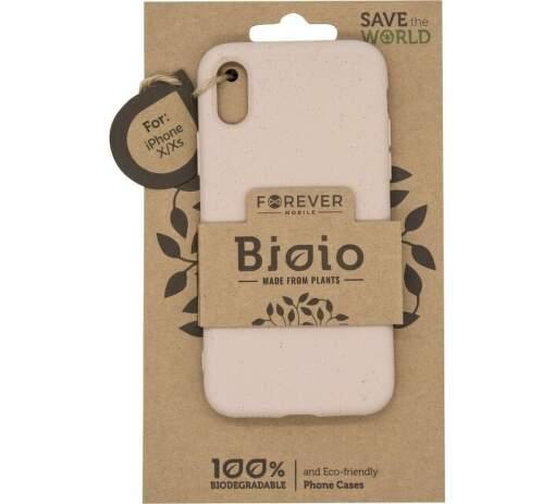 Forever Bioio zadní kryt pro Apple iPhone XS a X růžový