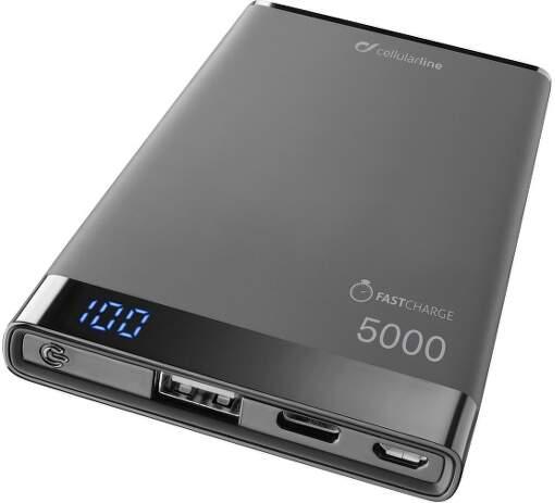 CellularLine Freepower Manta S USB-C 5000 mAh powerbanka, černá