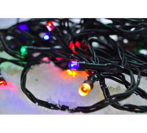 Vianočná farebná LED reťaz Solight 1V04-M