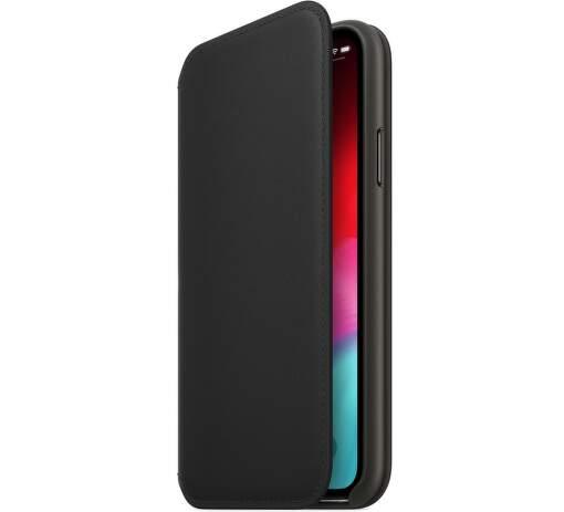 Apple kožené pouzdro Folio pro iPhone XS, černá