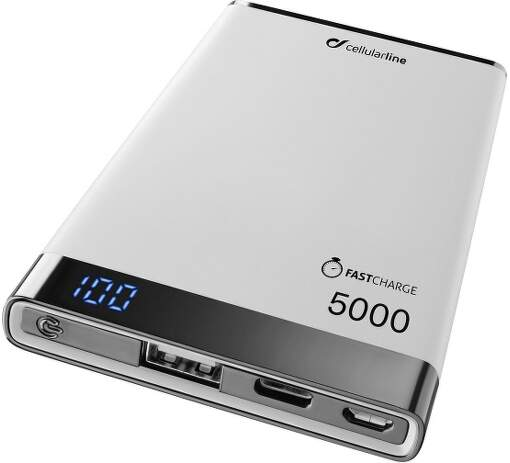 CellularLine Freepower Manta S USB-C 5000 mAh powerbanka, bílá