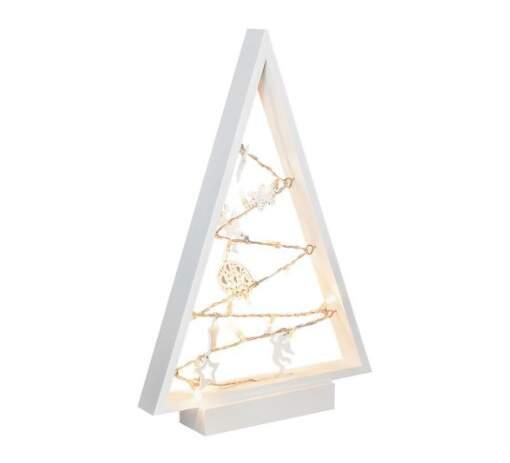 Drevený vianočný LED stromček Solight 1V221